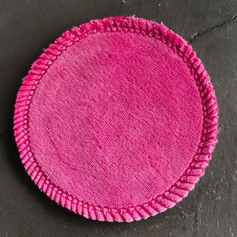Facial cleaning pad 8 cm - pink